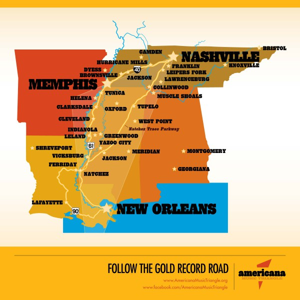 Gold Record Road- Americana Music Triangle