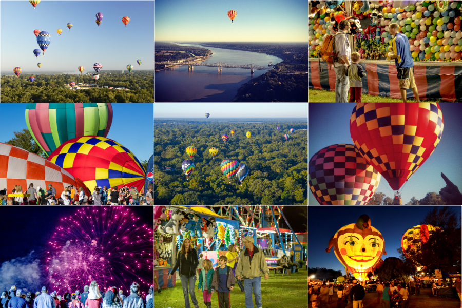 Balloon Race Collage